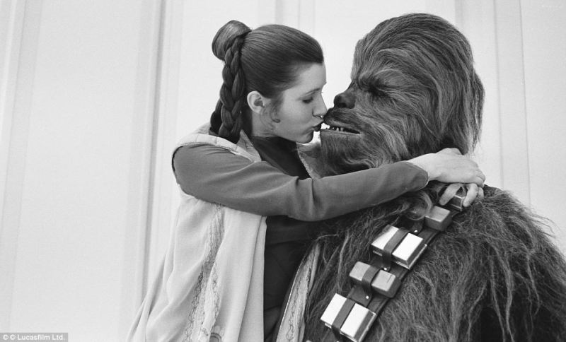 Sometimes the wookie gets the girl
