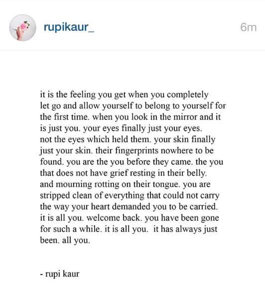 Rupi Kaur Nice Work